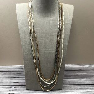 Jewelry - Five strand mixed metal box chain necklace